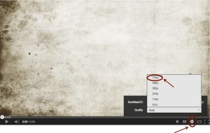 Video Settings (red arrow) Directions