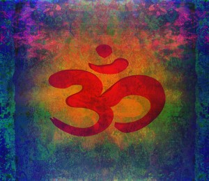 Om Symbol on Colorful Background
