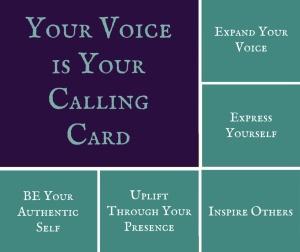 Calling Card Text